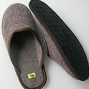 Обувь ручной работы handmade. Livemaster - original item Men`s felt Slippers without heel. Handmade.