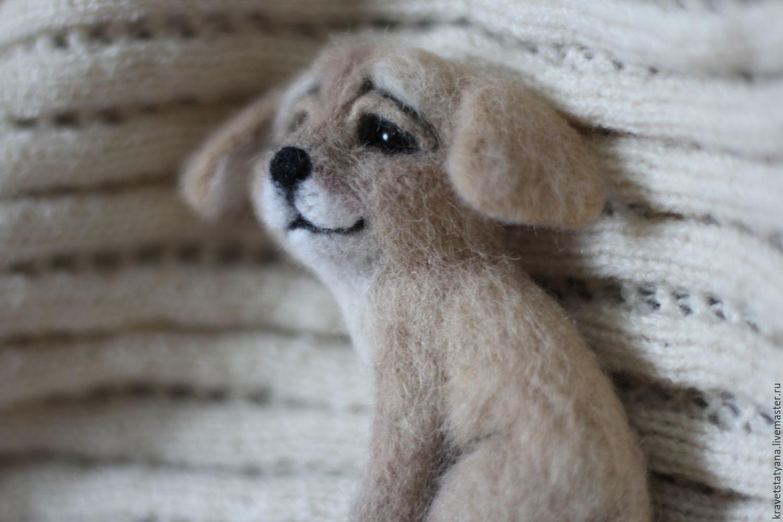 felt brooch cute dog Ball:), Brooches, Kuragino,  Фото №1