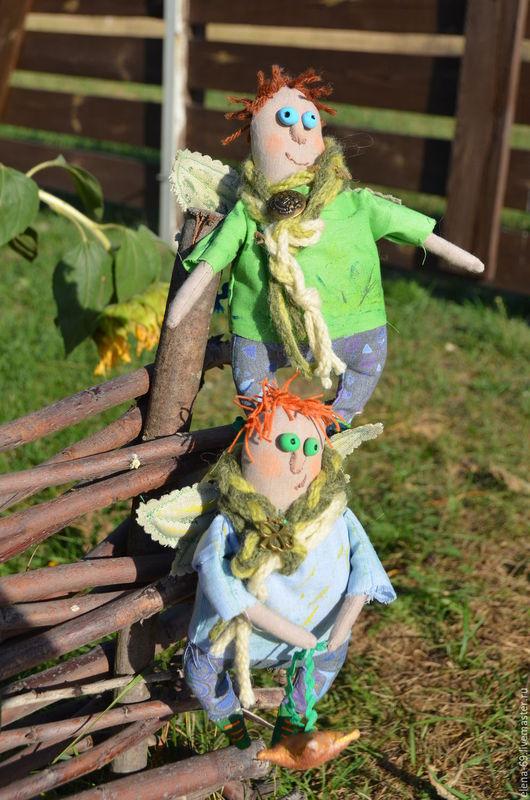 Куклы Тильды ручной работы. Ярмарка Мастеров - ручная работа. Купить Ангелы пучеглазики. Handmade. Разноцветный, текстильная кукла, холофайбер