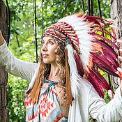 Одежда ручной работы. Ярмарка Мастеров - ручная работа Новогодний костюм индейца . Индейский головной убор. Handmade.