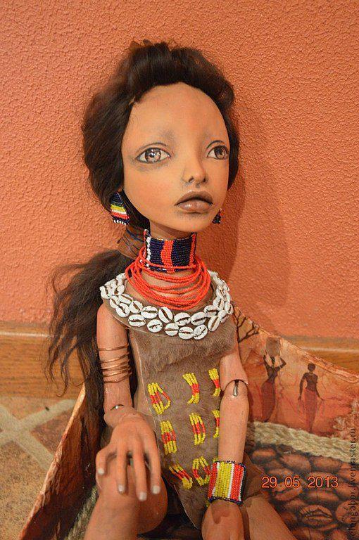 Полушарнирная, будуарная куколка. Высота ок.55 см.