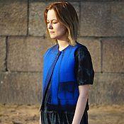"""Одежда ручной работы. Ярмарка Мастеров - ручная работа Валяная жилетка """"Синие огни"""". Handmade."""