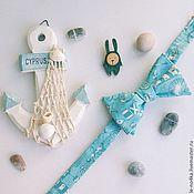 Аксессуары ручной работы. Ярмарка Мастеров - ручная работа Галстук-бабочка «Море». Handmade.