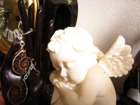 """Серьги ручной работы. Ярмарка Мастеров - ручная работа. Купить Серьги """"Дыхание времени"""".. Handmade. Авторские серьги, серьги с аммонитами"""