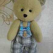 Куклы и игрушки ручной работы. Ярмарка Мастеров - ручная работа текстильная мягкая игрушка мишка. Handmade.