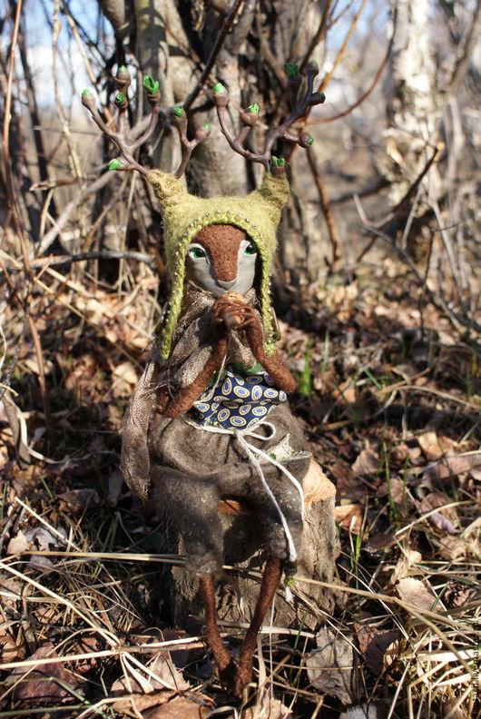 Коллекционные куклы ручной работы. Ярмарка Мастеров - ручная работа. Купить Ээзи пробуждающий деревья. Handmade. Комбинированный, полимерная глина