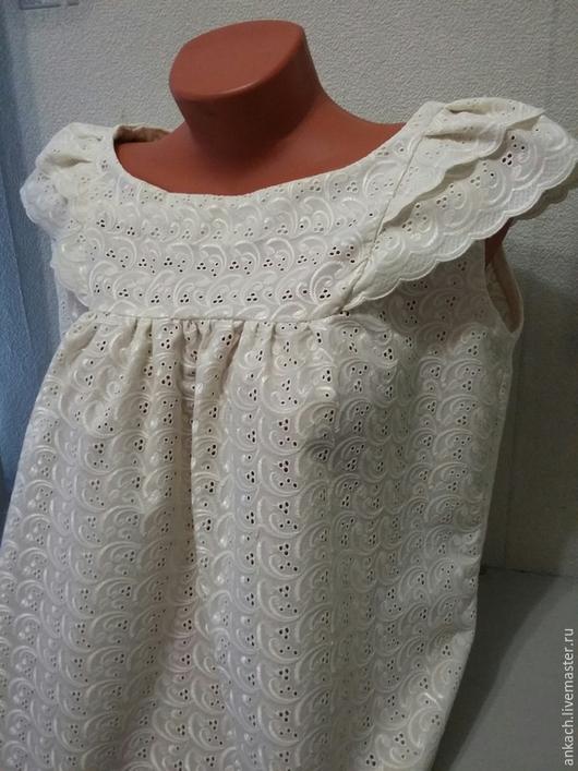 Блузки ручной работы. Ярмарка Мастеров - ручная работа. Купить Блузка Крем-брюле из шитья. Handmade. Белый, хлопок, нежность