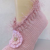 Аксессуары handmade. Livemaster - original item Knitted slippers for a girlfriend.. Handmade.