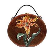 Сумки и аксессуары handmade. Livemaster - original item Women`s Tulip bag made of wood with hand painted. Handmade.