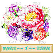 Материалы для творчества handmade. Livemaster - original item Termotransfer. Peonies. Termoprint. Pictures for fabric. Decal.. Handmade.
