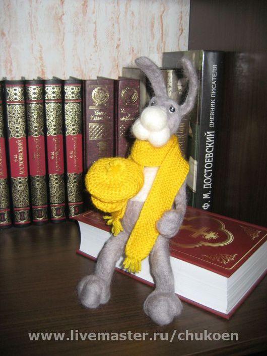 Игрушки животные, ручной работы. Ярмарка Мастеров - ручная работа. Купить кролик Федор. Handmade. 100% шерсть, шерсть, краски
