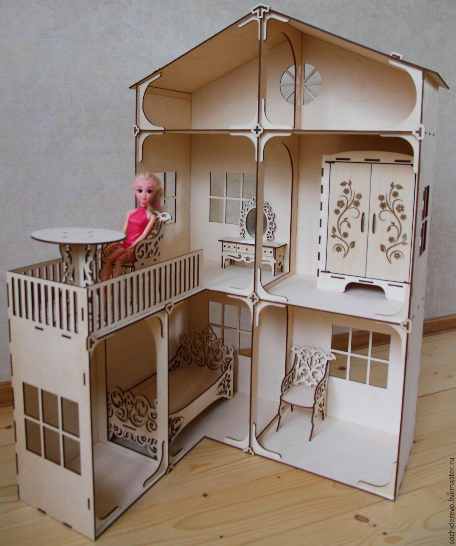 Деревянный домик для барби своими руками