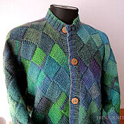 Одежда handmade. Livemaster - original item Cardigan mens Green. Handmade.