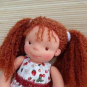 Куклы и игрушки ручной работы. Ярмарка Мастеров - ручная работа вальдорфская кукла Клубничка. Handmade.
