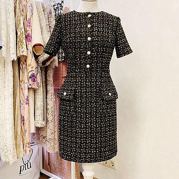 Одежда ручной работы. Ярмарка Мастеров - ручная работа Платье из твида в стиле Chanel. Handmade.