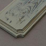 Для дома и интерьера ручной работы. Ярмарка Мастеров - ручная работа Ключница деревянная  состаренная, шебби шик. Handmade.