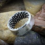 """Кольца ручной работы. Ярмарка Мастеров - ручная работа """"Oxygen"""" серебряное кольцо унисекс. Handmade."""