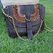 Сумки и аксессуары handmade. Livemaster - original item Handbag made of Python leather RODEO. Handmade.