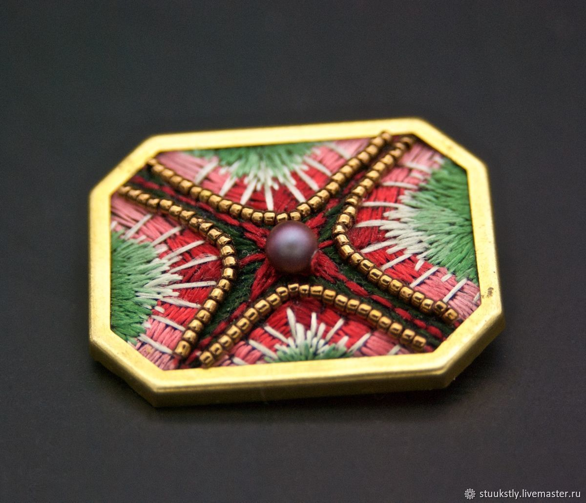 Brooch geometric abstract, Brooches, Moscow,  Фото №1