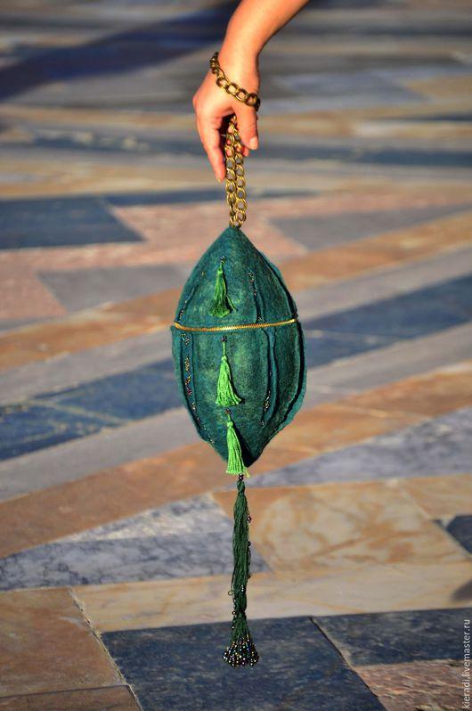 Женские сумки ручной работы. Ярмарка Мастеров - ручная работа. Купить Авторская сумочка ручной работы Green candy. Handmade.
