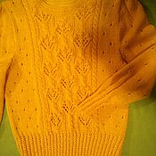Одежда handmade. Livemaster - original item Knitted pointelle jumper. Handmade.