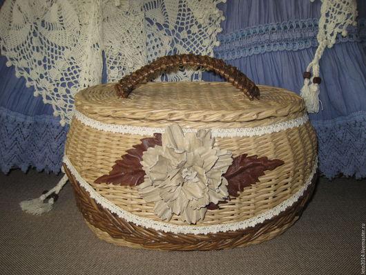 Корзины, коробы ручной работы. Ярмарка Мастеров - ручная работа. Купить Плетеный короб - саквояж в стиле Бохо. Handmade.