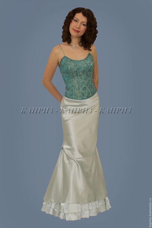Вечерний наряд (корсет и юбка) ручная пошив и вышивка бисером,стеклярусом,пайетками авторская работа