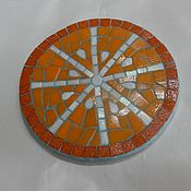 Для дома и интерьера ручной работы. Ярмарка Мастеров - ручная работа Мозаика, подставка под горячее. Handmade.