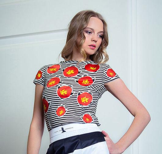 Блузки ручной работы. Ярмарка Мастеров - ручная работа. Купить Блузка с шелковой аппликацией - многоснегирёвая. Handmade. Чёрно-белый