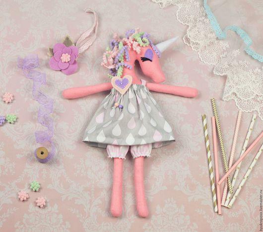 Сказочные персонажи ручной работы. Ярмарка Мастеров - ручная работа. Купить Единорожка, авторская кукла. Handmade. Комбинированный, игрушка из фетра