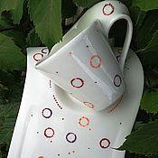 """Посуда ручной работы. Ярмарка Мастеров - ручная работа Чайная пара """"Пузырьки счастья"""". Handmade."""