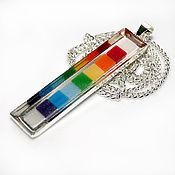 Украшения handmade. Livemaster - original item Pendant mosaic rainbow. Handmade.