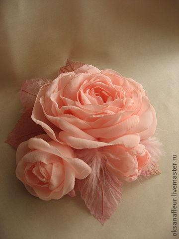 """Броши ручной работы. Ярмарка Мастеров - ручная работа. Купить Брошь """"Нежность"""". Handmade. Брошь-цветок, брошь в форме цветка"""