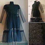 Одежда ручной работы. Ярмарка Мастеров - ручная работа Платье из фатина с кружевом. Handmade.