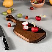 Посуда handmade. Livemaster - original item Wooden board made of a single piece of Siberian cedar wood RD20. Handmade.