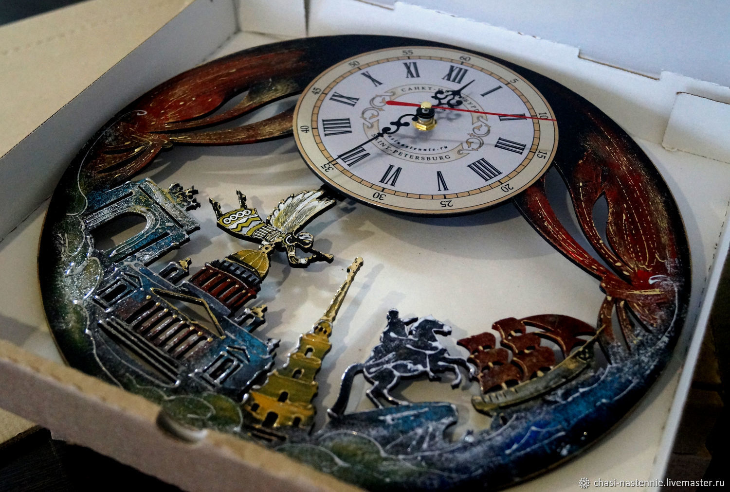 Wall clock St. Petersburg, unusual clock to order, Watch, St. Petersburg,  Фото №1