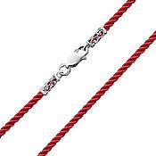 Украшения handmade. Livemaster - original item Silk Lace, color red, thickness 2 mm. Handmade.