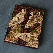 "Канцелярские товары handmade. Livemaster - original item Sketchpad A5 ""Giraffes"". Handmade."