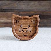 Посуда handmade. Livemaster - original item Plates: Children`s wooden plate Cat. Handmade.