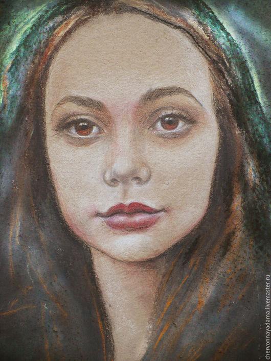 Люди, ручной работы. Ярмарка Мастеров - ручная работа. Купить Картина Портрет девушки. Handmade. Комбинированный, подарок, картина