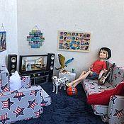 Мебель для кукол ручной работы. Ярмарка Мастеров - ручная работа Набор мягкой мебели «Эдвард». Диван и кресло.. Handmade.