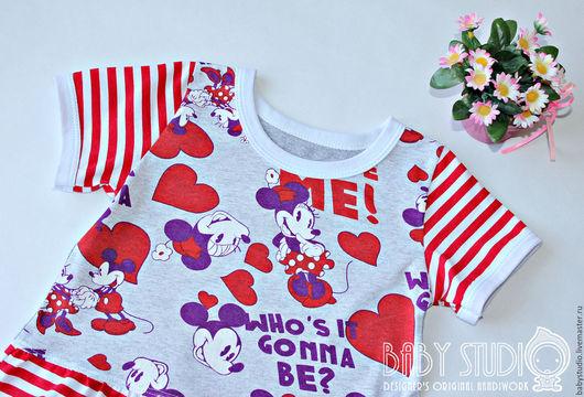 """Одежда для девочек, ручной работы. Ярмарка Мастеров - ручная работа. Купить Платье для малышки """"Минни Маус"""". Handmade. Комбинированный"""