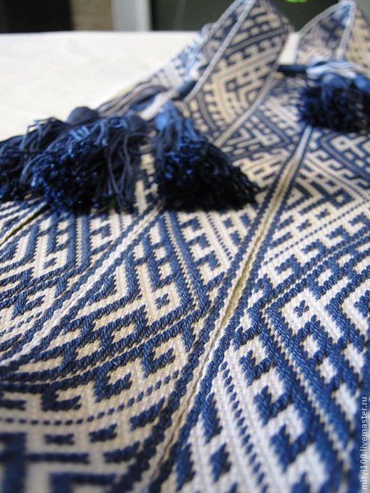 """Одежда ручной работы. Ярмарка Мастеров - ручная работа. Купить Пояс """"Одал"""" синий. Handmade. Пояс, материал 100% хлопок"""