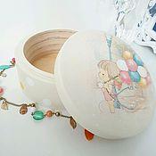 """Для дома и интерьера ручной работы. Ярмарка Мастеров - ручная работа Шкатулка """"Девочка с шарами"""". Handmade."""
