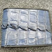 Сумки и аксессуары handmade. Livemaster - original item Alligator leather unisex wallet, in dark blue color!. Handmade.