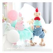 Куклы и игрушки ручной работы. Ярмарка Мастеров - ручная работа Петух и курочка - символ 2017 года. Handmade.