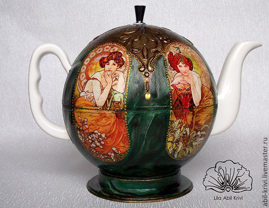 Чайники, кофейники ручной работы. Ярмарка Мастеров - ручная работа. Купить Чайник Малахитовый. Handmade. Тёмно-зелёный, весна, чай