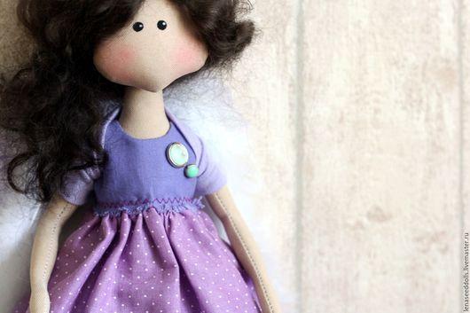 Коллекционные куклы ручной работы. Ярмарка Мастеров - ручная работа. Купить - Ангел Фаняша -. Handmade. Сиреневый, подарок девушке, хендмейд