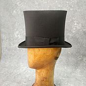 Аксессуары handmade. Livemaster - original item Black satin top hat