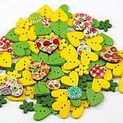 Материалы для творчества handmade. Livemaster - original item A set of buttons 10pcs for Spring decor and sewing. Handmade.